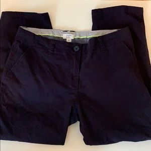 Crown & Ivy | Navy Chino Cropped Pants | 8